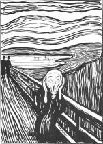 Křik. Litografie. 1895. 32 × 25,2.
