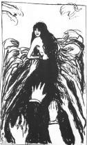 Touha po ženě. Litografie. 1895. 48 × 29.