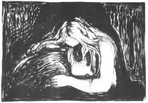 Vampír. Litografie. 1895. 38,8 × 55,7.