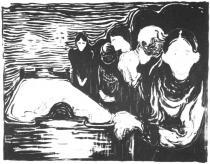 Agónie. Litografie. 1896. 40 × 50,9.