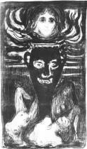 Urna. Litografie. 1896. 46 × 26,5.