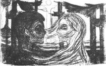 Přitažlivost. Litografie. 1896. 39,5 × 62,5.