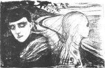 Rozchod. Litografie. 1896. 41,7 × 64,5.