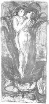 Vůně lásky. Litografie. 1896. 62 × 29.