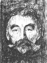 Portrét Stéphane Mallarmé. Litografie. 1896. 40,1 × 29,3.