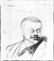 Portrét Gunnara Heiberga. Barevná litografie. 1896. 48,9 × 42,2.