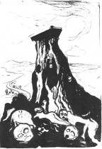 Smuteční pochod. Litografie. 1897. 55,5 × 37.