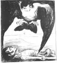Harpye. Litografie. 1900. 36,5 × 31,9.