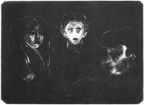 Tři tváře. Litografie. 1902. 29,6 × 39,4.