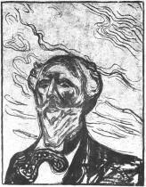 Portrét Holgera Drachmanna. Litografie. 1901. 35 × 25.