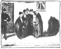 Poděkování za společnost. Litografie. 1899. 41,8 × 52,8