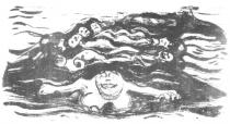 Bažina. Litografie. 1899. 26 × 49,5.