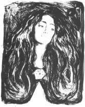 Madonna (Eva Mudocci). Litografie. 1903. 55,5 × 46.