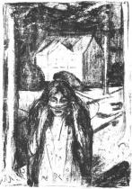 Útěk. 2. stav. Litografie. Po 1908. 62,5 × 44,5.