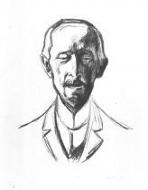 Portrét Alberta Kollmanna. Litografie. 1906. 43 × 33,5.