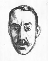 Portrét Henryho van de Veldeho. Litografie. 1906. 26 × 17,5.