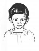 Portrét Andrease Schwarze. Litografie. 1906. 29 × 22.