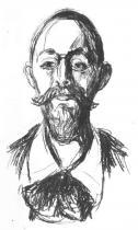 Portrét Prof. Dr. Jacobsona. Litografie. 1908/09. 51,5 × 29,5.