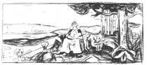 Alma mater. Litografie. 1914. 37 × 84.