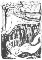 Smrt a život. Litografie. 1897. 36,5 × 25.