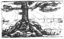Strom. Litografie. 1915. 21,2 × 35,5.