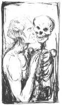 Tanec smrti. Litografie. 1915. 49 × 29.