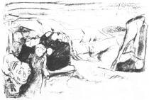Strach. Litografie. 1915. 26 × 39.