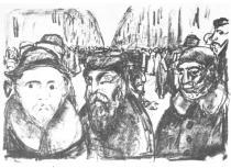 Ulice Granátníků v Berlíně. Litografie. 1920. 28 × 39,5.