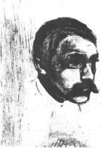 Portrét Sigbørna Obstfeldera. Lept. 1897. 17,9 × 13,7.