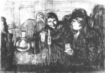 Christiania-Bohème I. Lept. 1895. 21,9 × 29,8.