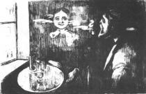 Tête-à-tête. Lept. 1896. 21,8 × 32,8.
