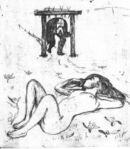 Jho. Lept a suchá jehla. 1896. 23,6 × 33.