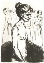 Stará žena v nemocnici. Lept. 1902. 18,8 × 14,9.