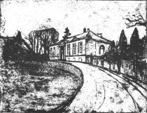 Dům. Lept a suchá jehla. 1902. 49,3 × 64,4.