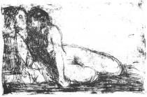 Tajemství. Lept. 1913. 16 × 23,8.