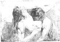Kousnutí. Lept. 1913. 19,7 × 27,6.