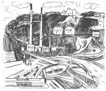 Loděnice. Lept. 1915/16. 33,6 × 39,8.