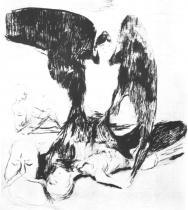 Vampír. Suchá jehla. 1894. 29,9 × 22,9.