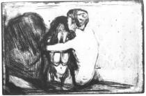 Útěcha. Suchá jehla. 1894. 20,8 × 30,9.