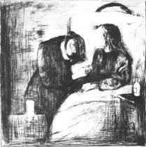 Nemocná dívka. Suchá jehla. 1894. 38,7 × 29,2.