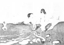 Koupající se dívka. Suchá jehla. 1895. 22 × 32,2.