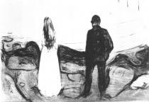 Dva lidé (Jedno sémě). Suchá jehla. 1895. 22,8 × 26,7.