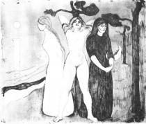 Žena. Suchá jehla. 1895. 29,5 × 34,5.