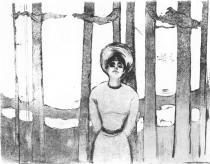 Letní noc (Hlas). Suchá jehla. 1895. 24,4 × 32,4.