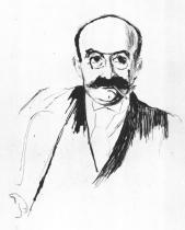 Portrét Dr. Maxe Asche. Suchá jehla. 1895. 34,3 × 27,3.