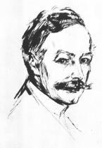 Portrét Dr. Maxe Lindeho. Suchá jehla. 1902. 35 × 25.