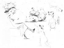 Strašidelná postava. Suchá jehla. 1905. 14,1 × 19.