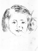 Hlavička dítěte. Suchá jehla. 1905. 17,3 × 12,4.