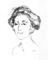 Ženský portrét. Suchá jehla. 1907. 23,5 × 15,5.