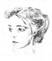Zdravotní sestra. Suchá jehla. 1908/09. 20,5 × 15,2.
